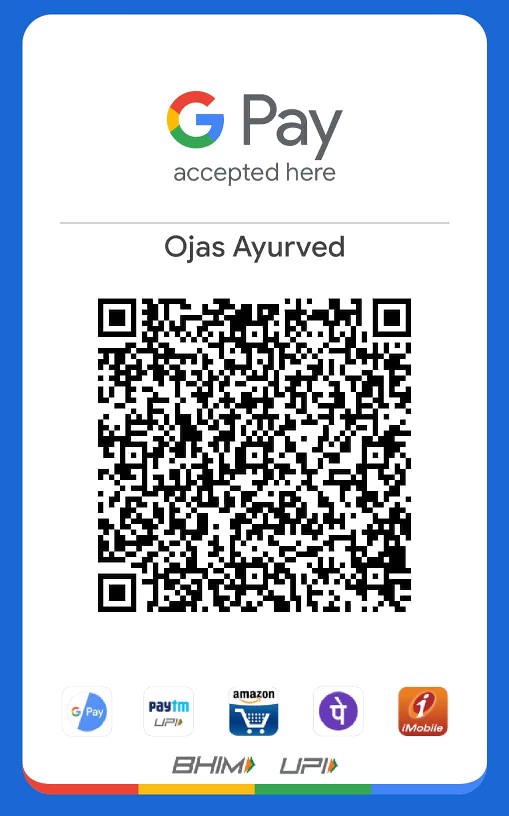 Paying to Ojas Ayurved